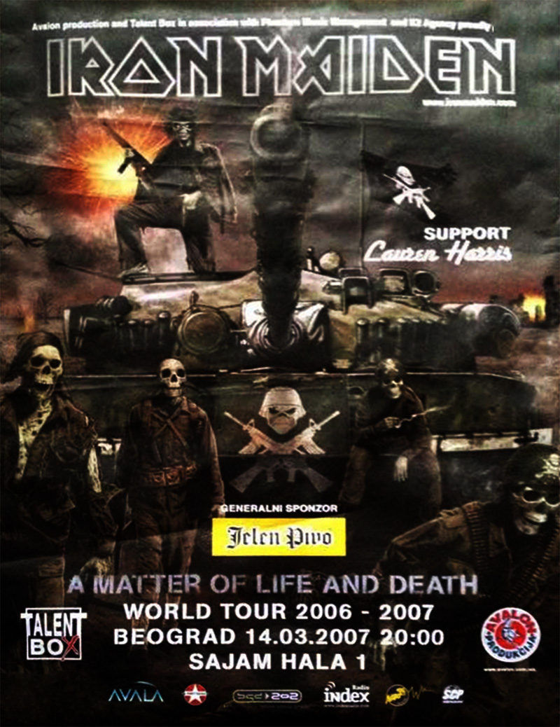 Iron Maiden - A Matter of Life and Death 2007 - Sajam, Beograd, Srbija