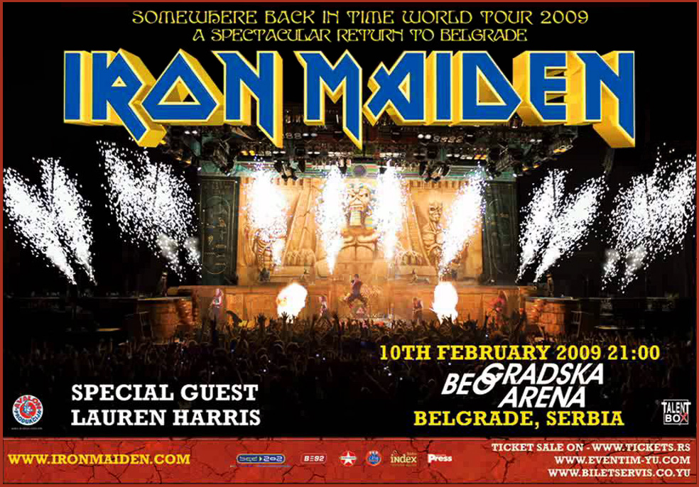 Iron Maiden - Somewhere Back in Time 2009 - Arena, Beograd, Srbija